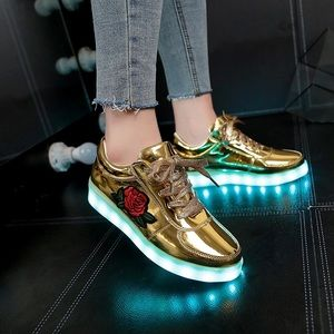 Shoes - Silver and gold sneakers